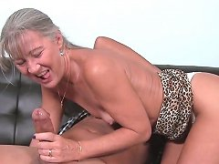 Tanlined Smalltitted Cougar Jerking Hard Cock Free Porn E6