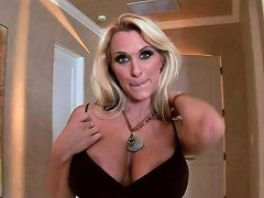 Blonde Milf's Fucked Silly By A Big Cock After Showing Her Huge Tits