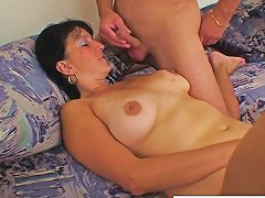Busty Grandma Takes A Load On Her Tits Nuvid