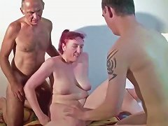 German Amateur Mom In 3some With Husband And Stepson