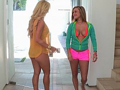 Naughty Kennedy And Her Step Mom In The Pool