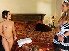 Hot Olivia Austin And Sara Luvv Play Roles And Have Fun In Bed