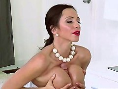 Milf Ariella Does Boob Job To Angels Boyfriend And They Get Busted