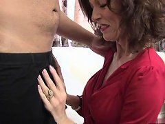 Brunette Milf Oral And Cum On Tits Nuvid