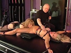 Big Tits Blonde Bound Up And Pleasured By An Older Couple