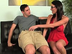 Hot Cfnm Babe With Glasses Jerks Cock Nuvid
