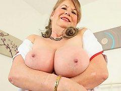 English Granny Elle Is Your Naughty Nurse Tonight
