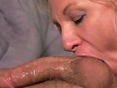 Mom Takes Cock And Gets A Messy Facial