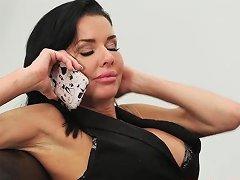 Nikki Benz Scissors With Ava Adams Outdoors