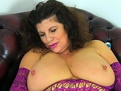 British Milf Gilly Dildos Her Shaven Fanny For Us Nuvid
