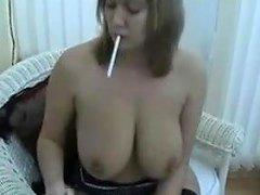 Sexy Smoking British MILF